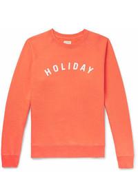 Sweat-shirt imprimé orange