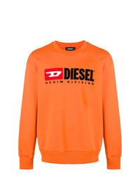 Sweat-shirt imprimé orange Diesel