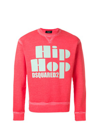 Sweat-shirt imprimé orange DSQUARED2
