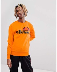 Sweat-shirt imprimé orange Ellesse
