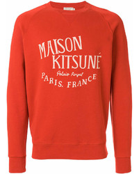 Sweat-shirt imprimé orange MAISON KITSUNÉ