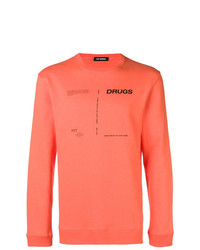 Sweat-shirt imprimé orange Raf Simons
