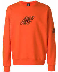 Sweat-shirt imprimé orange