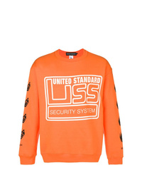 Sweat-shirt imprimé orange United Standard