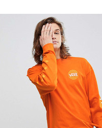 Sweat-shirt imprimé orange Vans