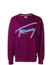 Sweat-shirt imprimé pourpre foncé Tommy Jeans