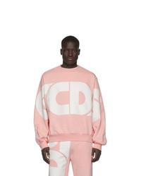 Sweat-shirt imprimé rose Gcds