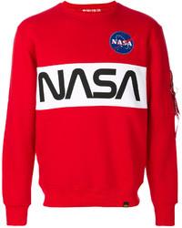 Sweat-shirt imprimé rouge Alpha Industries