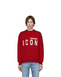 Sweat-shirt imprimé rouge DSQUARED2
