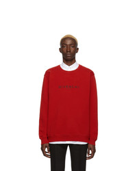 Sweat-shirt imprimé rouge Givenchy