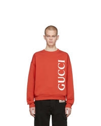 Sweat-shirt imprimé rouge Gucci