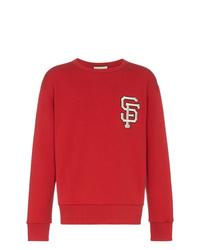 Sweat-shirt imprimé rouge Gucci
