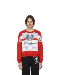 Sweat-shirt imprimé rouge Moschino