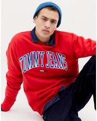 Sweat-shirt imprimé rouge Tommy Jeans