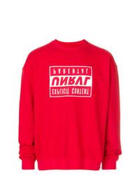 Sweat-shirt imprimé rouge Unravel Project