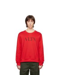 Sweat-shirt imprimé rouge Valentino
