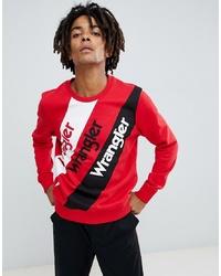 Sweat-shirt imprimé rouge Wrangler