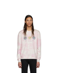 Sweat-shirt imprimé tie-dye rose Versace