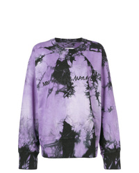 Sweat-shirt imprimé tie-dye violet clair MM6 MAISON MARGIELA
