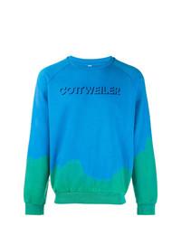 Sweat-shirt imprimé turquoise Cottweiler