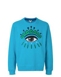 Sweat-shirt imprimé turquoise Kenzo