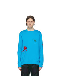Sweat-shirt imprimé turquoise Paul Smith