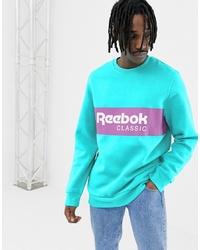 Sweat-shirt imprimé turquoise Reebok