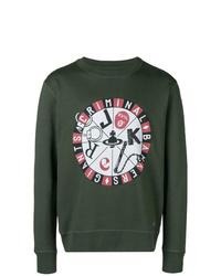 Sweat-shirt imprimé vert foncé Vivienne Westwood