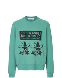 Sweat-shirt imprimé vert menthe Golden Goose Deluxe Brand