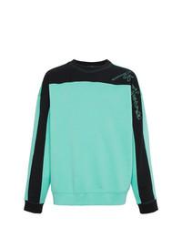 Sweat-shirt imprimé vert menthe Martine Rose