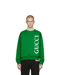Sweat-shirt imprimé vert Gucci