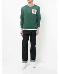 Sweat-shirt imprimé vert Kent & Curwen