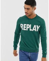 Sweat-shirt imprimé vert Replay