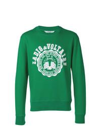 Sweat-shirt imprimé vert Zadig & Voltaire