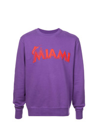 Sweat-shirt imprimé violet Marcelo Burlon County of Milan