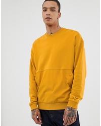 Sweat-shirt jaune ASOS DESIGN