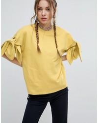 Sweat-shirt jaune Asos