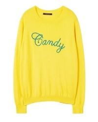 Sweat-shirt jaune Mango