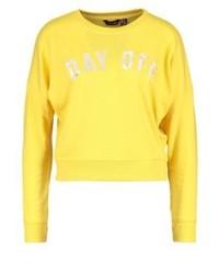Sweat-shirt jaune New Look