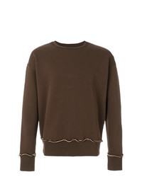 Sweat-shirt marron foncé