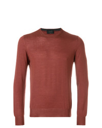 Sweat-shirt marron Dell'oglio