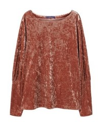 Sweat-shirt marron Mango