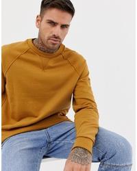 Sweat-shirt moutarde ASOS DESIGN