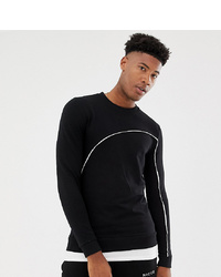 Sweat-shirt noir et blanc ASOS DESIGN