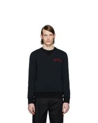 Sweat-shirt noir Alexander McQueen