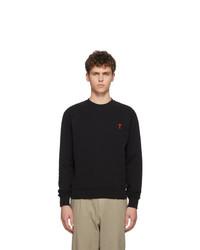 Sweat-shirt noir AMI Alexandre Mattiussi