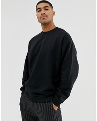 Sweat-shirt noir ASOS DESIGN