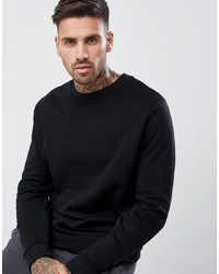 Sweat-shirt noir ASOS DESIGN