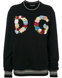Sweat-shirt noir Dolce & Gabbana