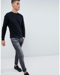 Sweat-shirt noir Jack & Jones